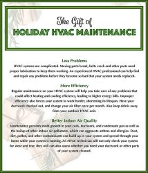 Why Holiday HVAC Maintenance Important