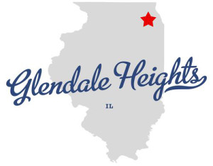 Glendale Heights location on Illinois map